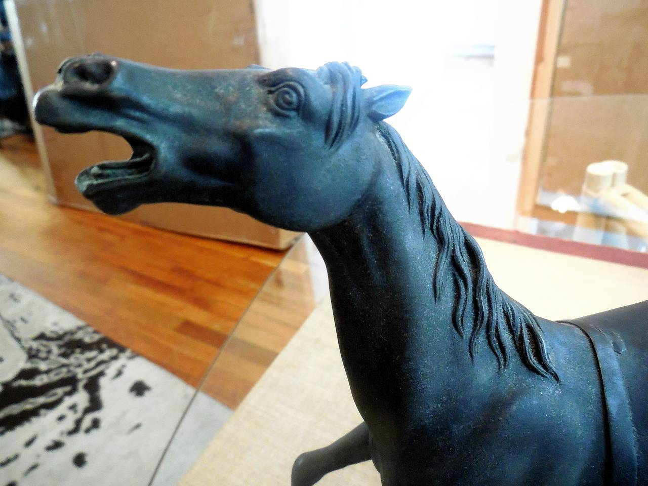 French Thoroughbred Race Horse Bronze Sculpture Deco 4