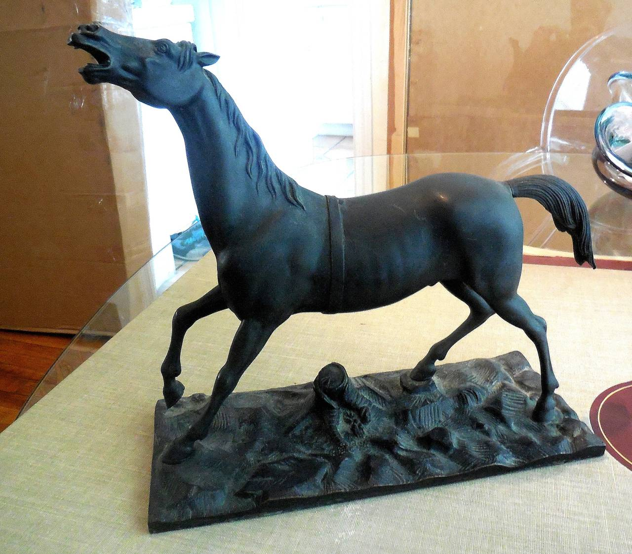 French Thoroughbred Race Horse Bronze Sculpture Deco 6