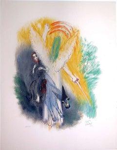 Bible Lithograph, Angel