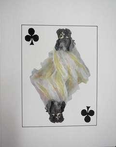 William Wegman - Photo Lithograph Royal Flush Clubs King Dog