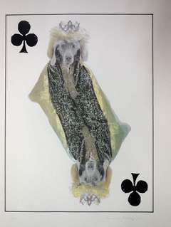 William Wegman - Photo Lithograph Royal Flush Queen Dog