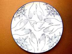 Dove of Peace Limoges plate