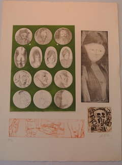 Etching and Aquatint with Embossing