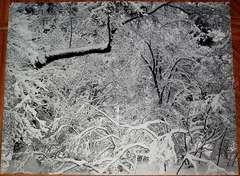 1960 Yosemite Menu with cover Fresh Snow, Yosemite Valley, California, 1947
