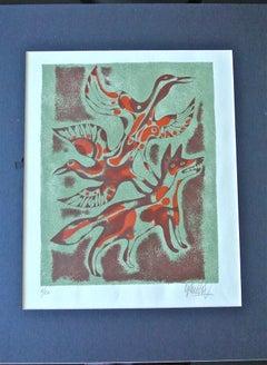 "Inuit-Inspired Silkscreen Print, ""Canada Suite Series"" Ed. 6/20"