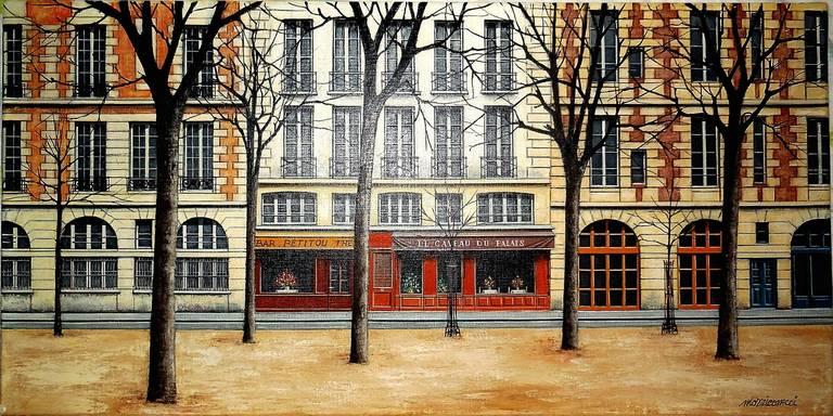Angelo mozziconacci place dauphine paris painting for sale at 1stdibs - Portes ouvertes paris dauphine ...