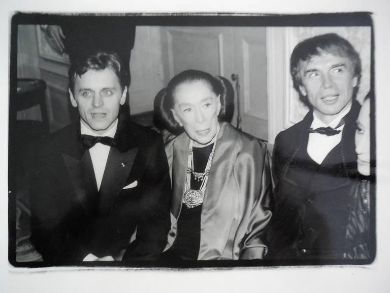 Fred McDarrah Figurative Photograph - Martha Graham, Mikhail Baryshnikov, Rudolf Nureyev