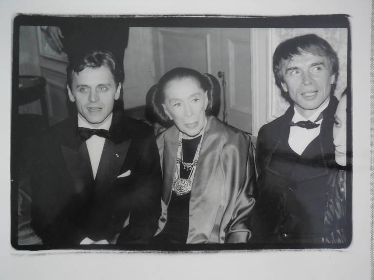 Martha Graham, Mikhail Baryshnikov, Rudolf Nureyev - Photograph by Fred McDarrah