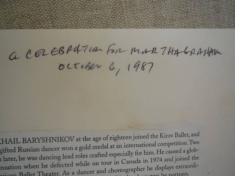Martha Graham, Mikhail Baryshnikov, Rudolf Nureyev - Black Figurative Photograph by Fred McDarrah