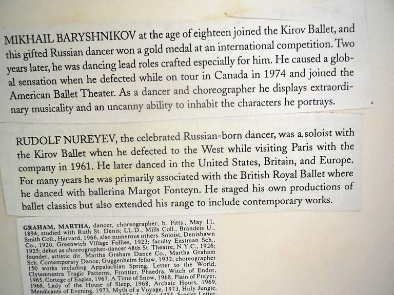 Martha Graham, Mikhail Baryshnikov, Rudolf Nureyev For Sale 1