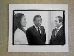 Gordon Parks, Alan King and Genevieve Young Vintage Silver Gelatin photo
