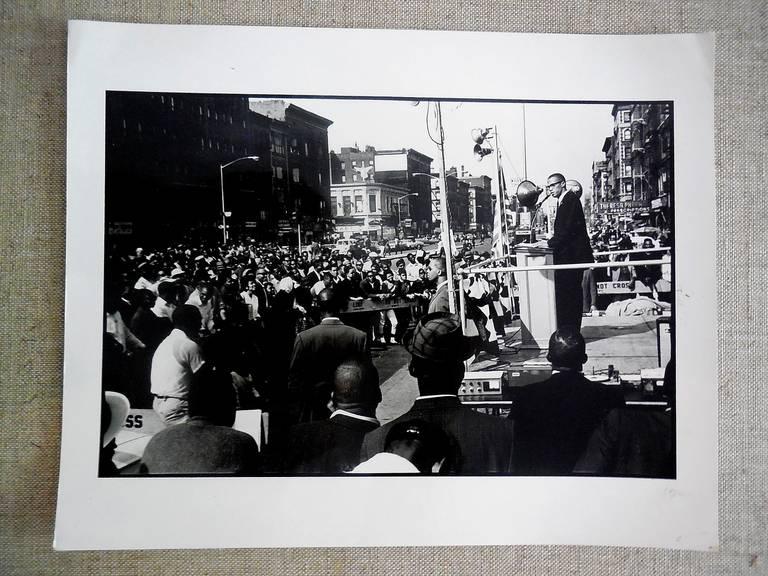 Malcolm X, Vintage Signed Silver Gelatin Print