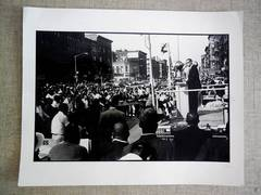 Malcolm X, Vintage Signed Silver Gelatin Print