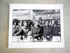 Malcolm X Funeral Signed Vintage Silver Gelatin print