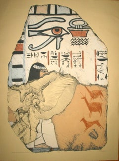 Egyptian Revival Lithograph