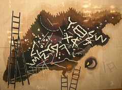 Celebrate Jerusalem Hand Woven Tapestry Israeli Modernist Master Mordechai Ardon