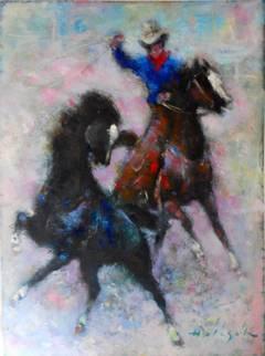 Western Scene (Cowboy on Horseback)
