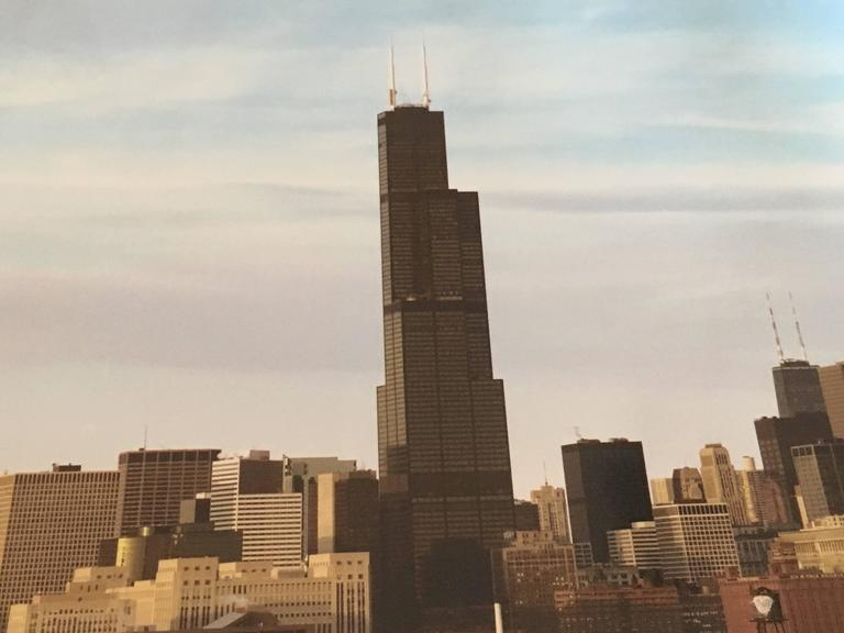 View of N. FR. Rubin Bros, Large Scale Chicago Color Photograph For Sale 2