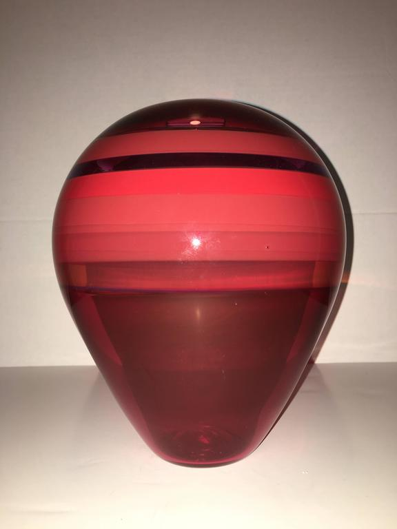 Blown Glass Wall Vase Barry Entner Art Glass Vases
