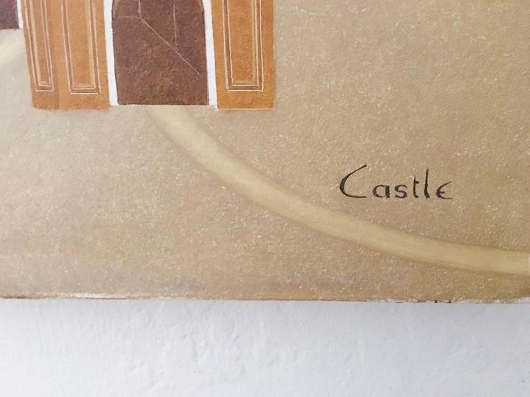 Philip Castle was an Irish Painter and husband to artist Barry Castle He is rarely exhibited.  His detailed, meticulous work took a long time to complete and his output was quite limited. He was the husband of Barry Castle, known for her vivid