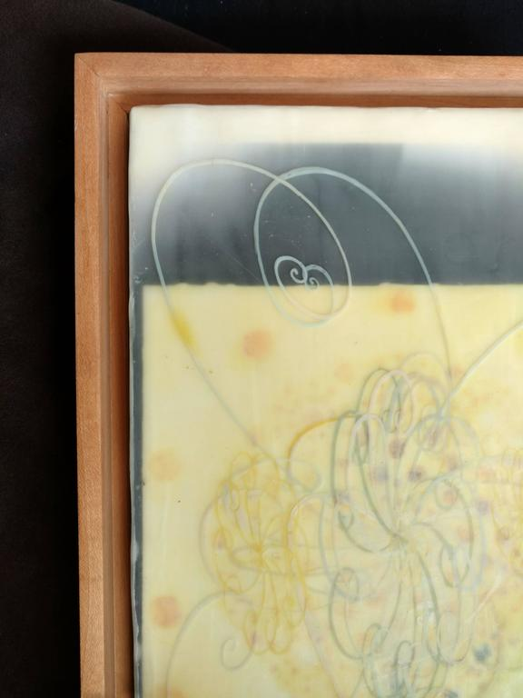 Cloud Chamber, Encaustic and Digital Print on Plywood For Sale 1