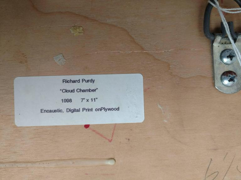 Cloud Chamber, Encaustic and Digital Print on Plywood For Sale 2