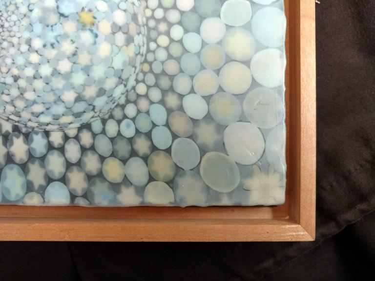 Encaustic and Digital Print on Plywood  American artist, Richard Purdy, born in Chicago, IL, 1956 Received his B.F.A. Indiana University of Pennsylvania Indiana, PA  Exhibitions 2013–2014 Winter Blues, Nancy Hoffman Gallery, New York 2013 Abstract,