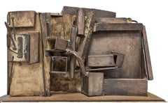 Rare Large Abstract Expressionist Welded Assemblage Sculpture