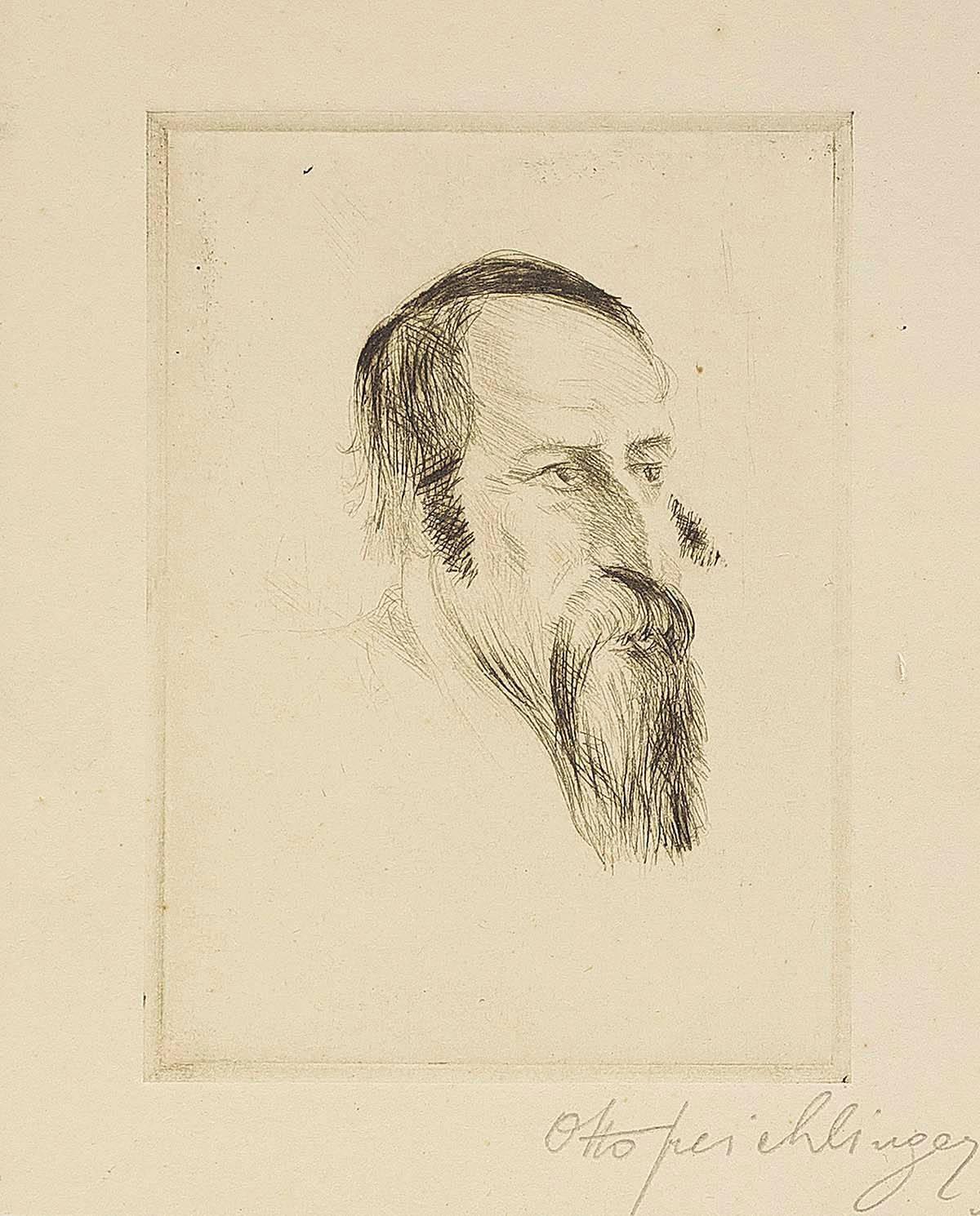 Rabbi (Study), Etching on Paper