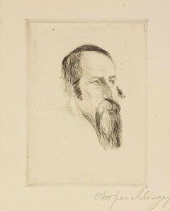 Rabbi (Study), Etching on Paper