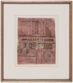 Untitled Israeli Abstract  Collagraph AP Print