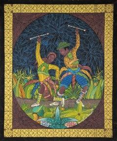 Dancers, Haitian Naive Painting