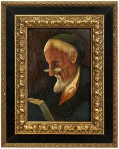 Belgian Modernist Judaica Portrait of a Rabbi