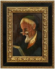 Belgian Modernist Judaica Portrait of a Rabbi
