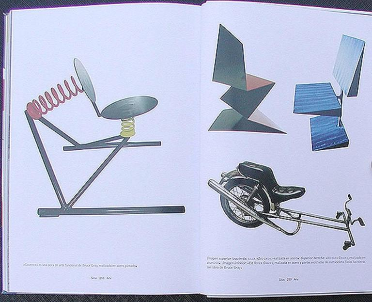EZ Rider Functional Sculpture Motorcycle Chair Featured in Book For Sale 1