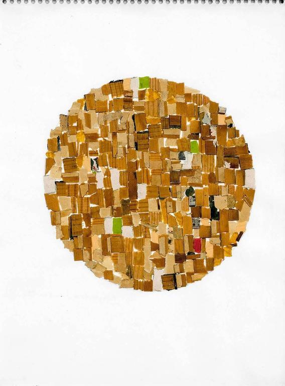 Mixed Media Abstract Collage  - Contemporary Mixed Media Art by Alejandra Icaza