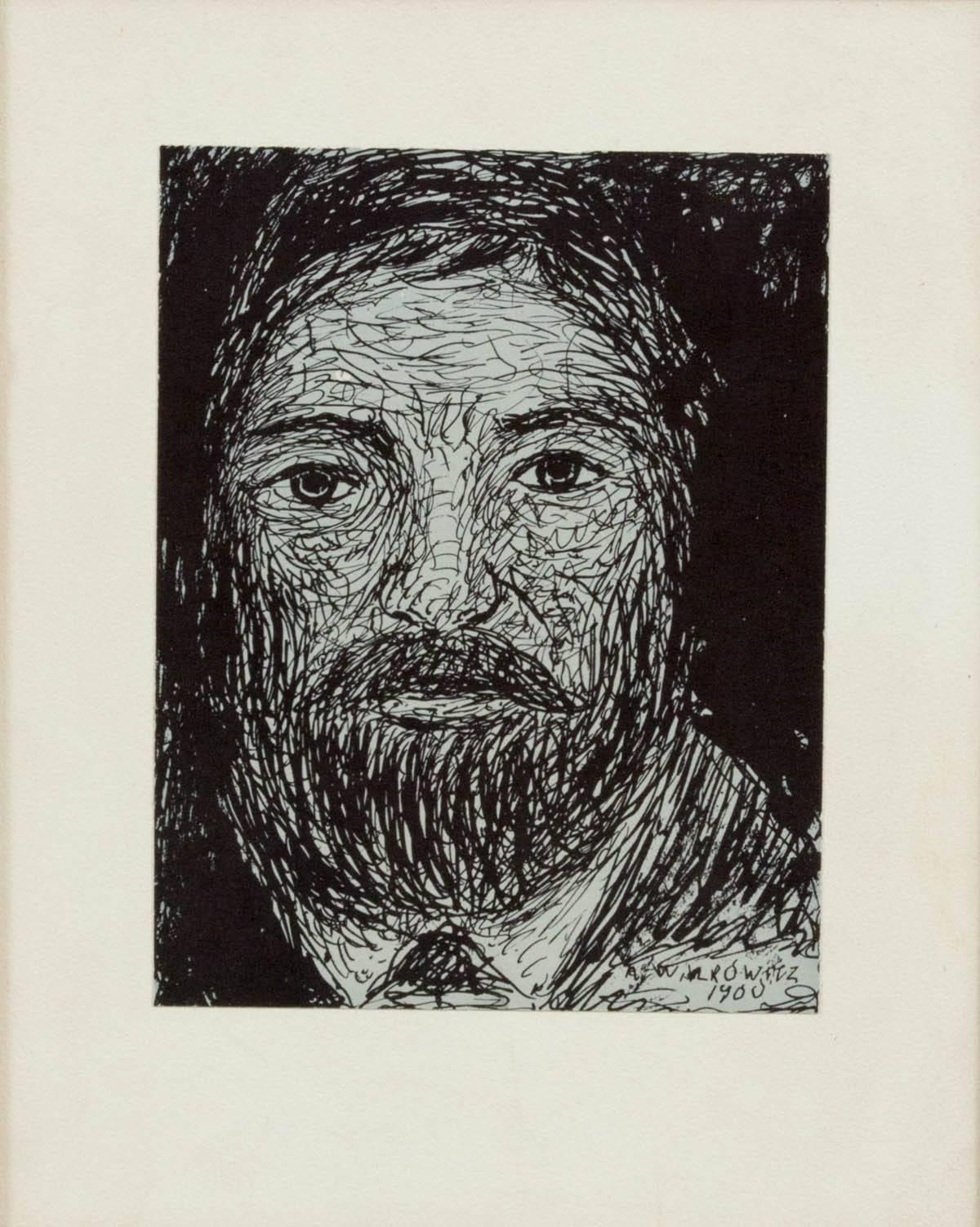 Modernist Drawing, Portrait of a Man