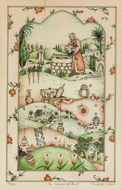 The Treasured Land, Rebecca at the Well Folk Art Judaica Print