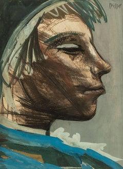 Expressionist Profile Portrait