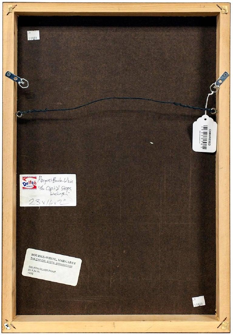 "MARGARET BOURKE-WHITE (AMERICAN, 1904-1971): ""THE CAPITOL STEPS, WASHINGTON, D.C 3"