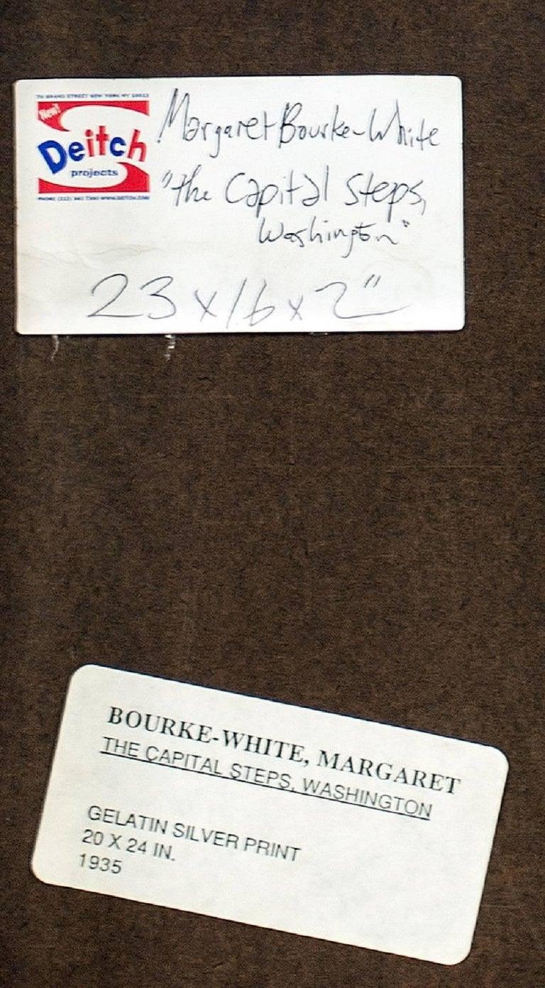 "MARGARET BOURKE-WHITE (AMERICAN, 1904-1971): ""THE CAPITOL STEPS, WASHINGTON, D.C 4"