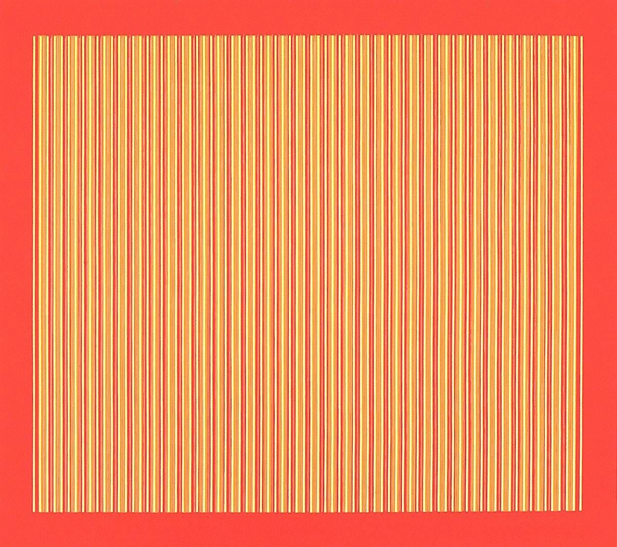 Agam 1971 Kinetic Op Art Print signed and dated