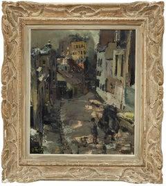 Expressionist Paris Street Scene Architectural Visionism