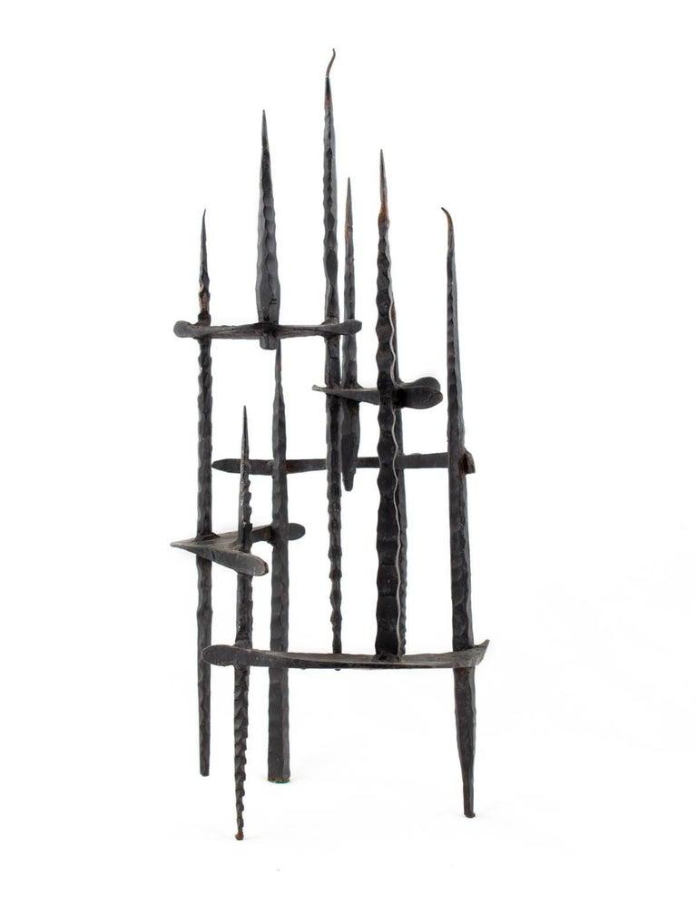 Mid Century Brutalist Iron Sculpture, Israeli Master David Palombo
