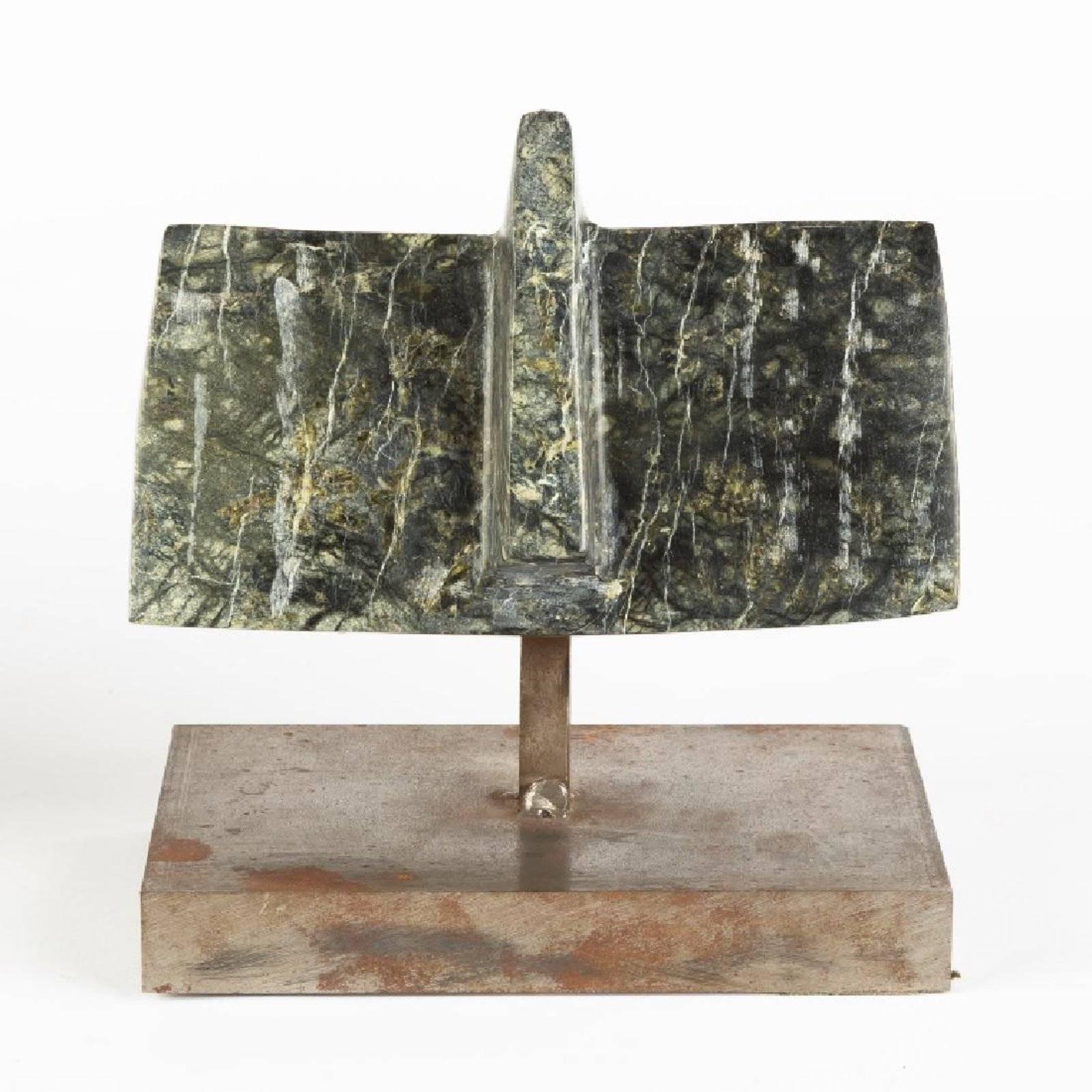 Galerie La Pochade, Paris France. Abstract Marble Sculpture