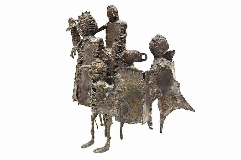 Mid Century Modern Brutalist Welded Expressionist Sculpture  2