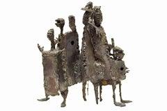 Mid Century Modern Brutalist Welded Expressionist Sculpture