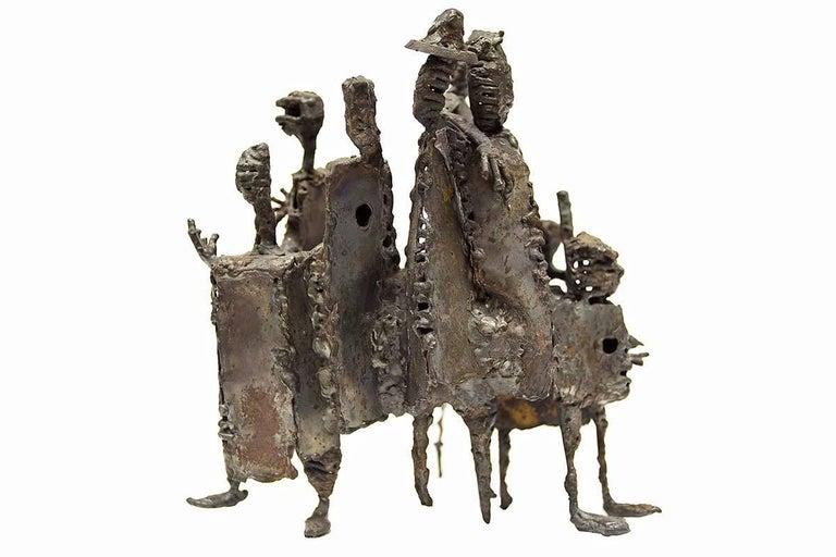 Unknown Abstract Sculpture - Mid Century Modern Brutalist Welded Expressionist Sculpture