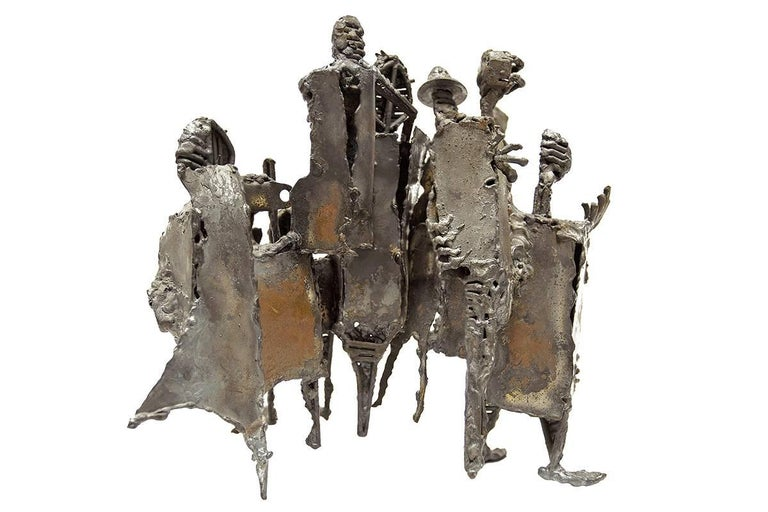 Mid Century Modern Brutalist Welded Expressionist Sculpture  5