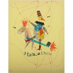 Rare Wolfgang Roth Dada Bauhaus Circus Silkscreen Print 3